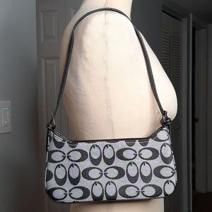 Coach black and gray shoulder bag.